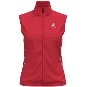 Odlo Zeroweight Windproof Warm Kamizelka do biegania Kobiety czerwony
